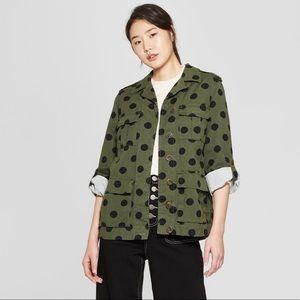 Target polka dot utility jacket - size small